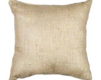 BURLAP PILLOW COVERS- Colors, Sizes, Throw Pillow Case, Natural, Red,
