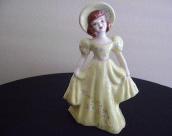 Vintage Southern Belle Lady Figurine