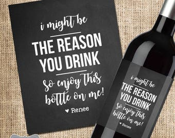 Bosses Day Gift, Boss Gift, Bosses Day Wine Label, Boss Christmas Gift, Bosses Day Gifts for Her, Bosses Day Gifts for Him, Christmas Gift
