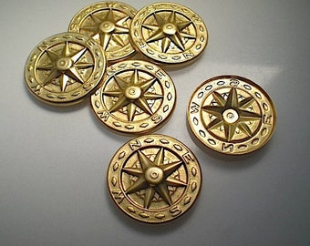 6 compass charms