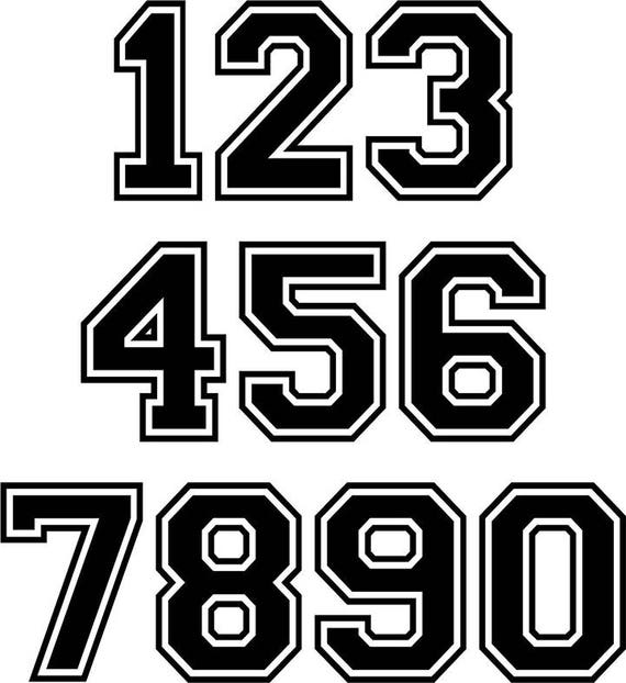 2 numbers helmet number sticker personalized vinyl sticker vinyl numbers football helmet sticker baseball helmet decal