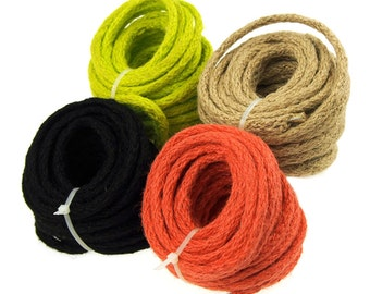 Jute Cord Rope WIred, 8mm, 9 Yards