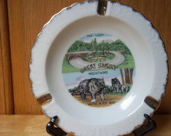 Vintage Great Smoky Mountains Ashtray