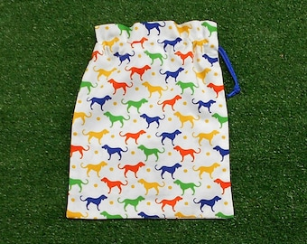Small drawstring bag, dogs gift bag, small cotton bag for dog treats and pet products