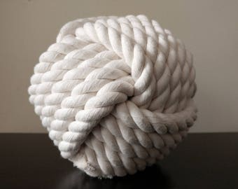 Extra Large Ball // All Natural Cotton Rope Dog Toy - Monkey's Fist Knot