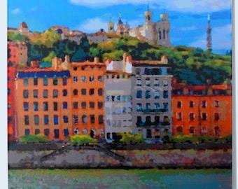 Canvas French city