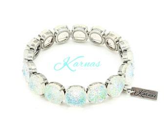 DRUZY AB 12mm Stretch Bracelet Crystal AB Faux Druzy *Pick Your Finish *Karnas Design Studio *Free Shipping