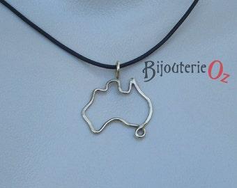 Australia Necklace, Australia Pendant, Australia Jewellery, Australiana, Stylized Australia Pendant, Brass, Copper or Silver by BijouterieOz