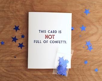 Confetti Bomb Letterpress Greeting Card. Single or Box of 6.