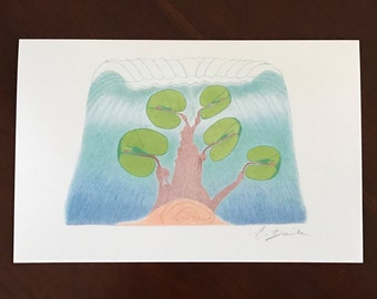 Set Of Blank Note Cards Art Card Set Cochlea Tree Art Card Deaf Art Anatomy Art Original Color Pencil Drawing Mother's Day Gift CatDKnits