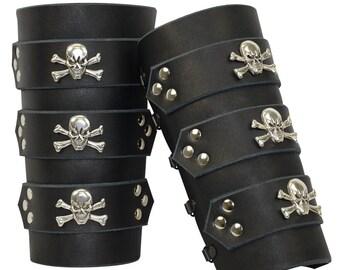 Jolly Roger Pirate Bracers - Skull and Cross Bones Bracers - #DK6024