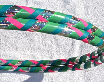 Hula Hoop - Custom 4 Color Criss Cross Hoola Hoop - Collapsible for Travel - Create Your Own Hula Hoop