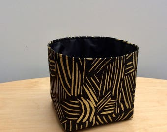 Loxley Black Fabric Storage Pot
