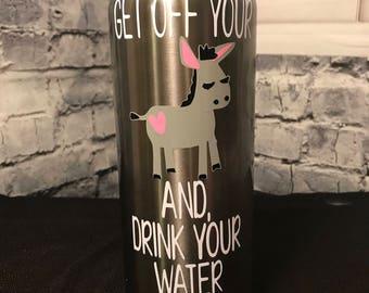Motivational Donkey Stainless Steel Water Bottle