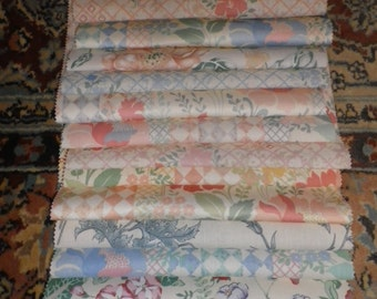 Bundle of Vintage Fabric Sample Pieces from Moygashel for Patchwork & Craft (2M)