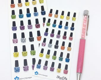 Nail Polish Stickers, Appointment stickers, Manicure stickers, Nail Polish,  Planner stickers,