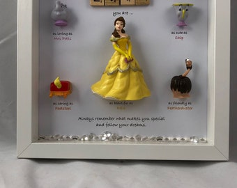 Disney Beauty and the Beast Frame. Belle gift- Beauty gift - caring words- BB Fans - Belle present- gift for the bride- daughter