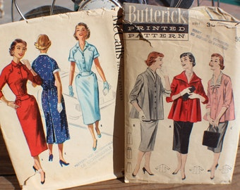 Vintage 1950's Womens Sewing Patterns