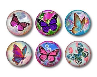 Butterfly Magnets, Butterfly Gift, Butterflies, Fridge Magnet, Refrigerator Magnets, Magnet Set