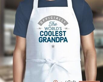 Grandpa Gift, Birthday Gift For Grandpa! Funny Apron, Coolest Grandpa, Cooking Gift, Awesome Grandpa, Personalized, Present For Grandpa