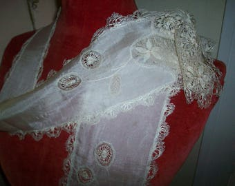 Finest Maltese lace silk scarf/lappet