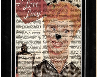 338 I love Lucy upcycle art