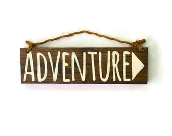 Adventure Wood Sign / Bohemian Decor / Cottage Decor / Hippie Decor / Gypsy Decor / Bohemian Wall Art / Wall Decor / Hippie Art