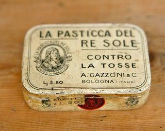 Vintage Italian cough sweet tins