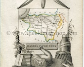 1823 Perrot Map of BASSES...