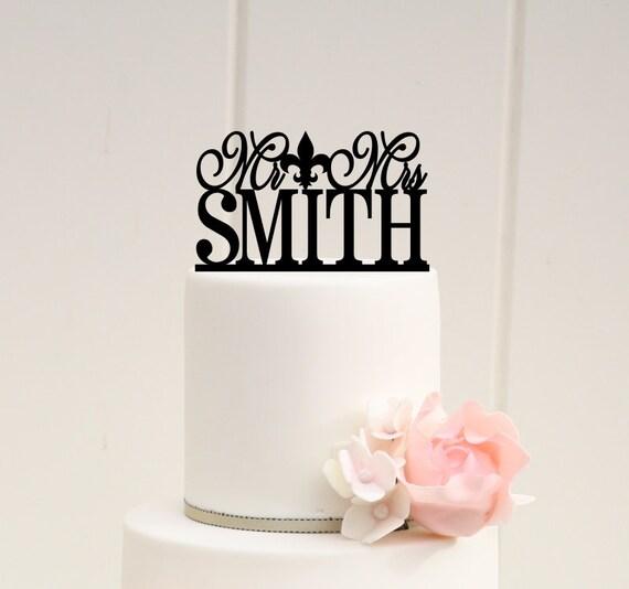 Fleur de Lis Wedding Cake Topper Custom Wedding Cake Topper