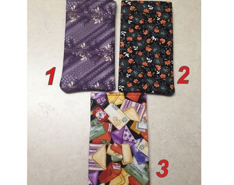 Qty 1 - Trendy Florals - padded, Fabric Eyeglass case, Sunglass holder, Glass Case, READY TO SHIP
