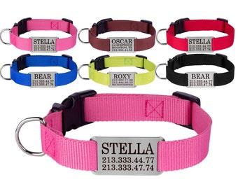 Pet Collar, Dog Collars, Dog Collar Personalized, Puppy Collar, Engraved Dog Collar, Girl Dog Collar, Boy Dog Collar, Custom Dog Collar
