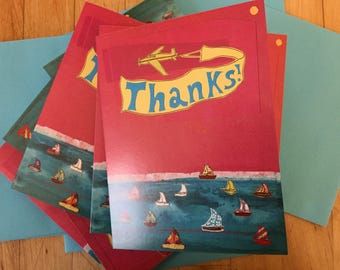 Thanks Boats Boxed Note Cards