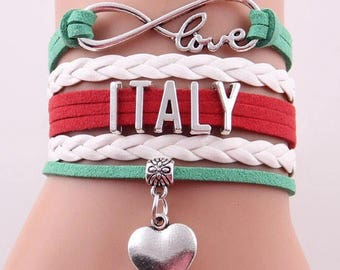 Love Italy Adjustable Wrap Bracelet