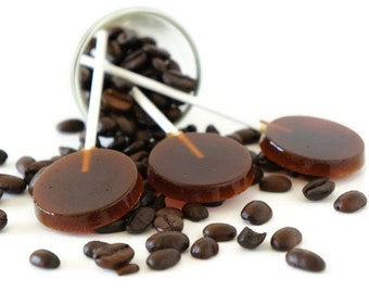 Coffee Lollipops, Coffee Honey Suckers, Homemade Lollipops, Coffee Hard Candy, Hard Candy Lollipop, Honey Coffee Party Favors, Honey Candies
