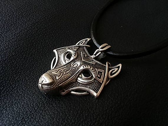 Wolf Necklace Celtic Wolf Necklace Mens Necklace Viking
