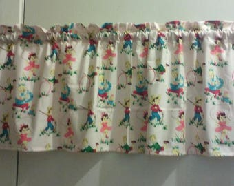 Window Curtain and Valance Holiday Winter Christmas Cookies