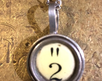 2 and quotation mark Typewriter Key Pendant