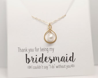 Gold Pearl Necklaces, Infinity Necklaces, Bridesmaid Necklaces, Friendship Necklaces, Bridesmaid Thank you Gift, Freshwater Pearl Necklaces