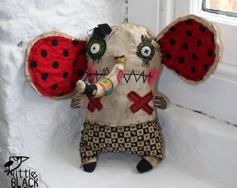 Monster Doll, Cloth Elephant, Home Decor, Interior Design, Collectible, Gift for Him
