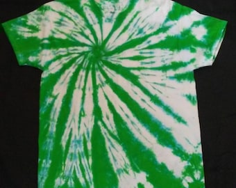 Green and Blue Tie Dye T-shirt