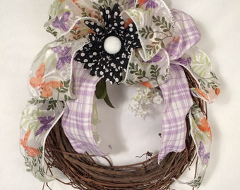 Adorable Grapevine Wreath // Small Front Door Wreath // Natural Wreath //Natural Wreaths //Door Decor