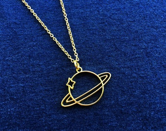 PLANET Necklace PLANET Jewelry PLANET Gift Nasa Necklace Nasa Jewelry Nasa Gift Space Necklace Planet Pendant Planet Charm Saturn Necklace