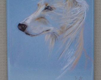 Windhound Saluki Dog Art Magnet By Cori Solomon