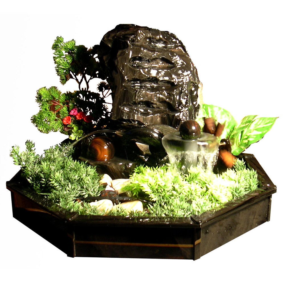 Large Indoor Water Fountain Table top water fountain handmade from obsidian interior zoom workwithnaturefo