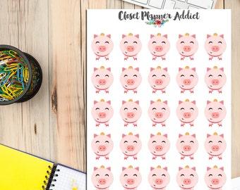 Piggybank Planner Stickers | Money Stickers | Save Money | No Spend Stickers (S-140)