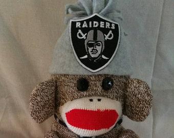 LA Raiders Sock Monkey, Handmade Sockmonkey