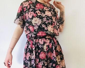 Handmade Vintage Floral Pocket Dress