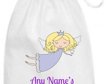 Personalised Beautiful Keepsake Tooth Fairy Bag