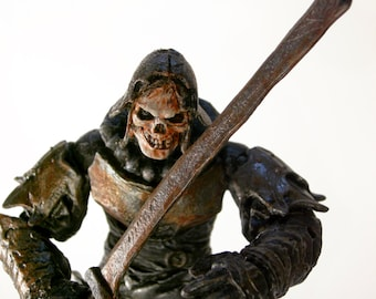 "CUSTOM 6"" Undead Skeleton Lich Knight Action Figure NECA McFarlane Style"